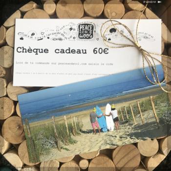 Chèque cadeau 60€ cc60