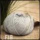 Fil 18 coton gris argent à tricoter