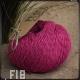 Fil 18 rose indien coton et lin naturel