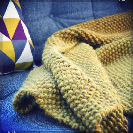 Kit et mod le plaid couverture en laine facile tricoter peace wool - Tricoter un plaid debutant ...