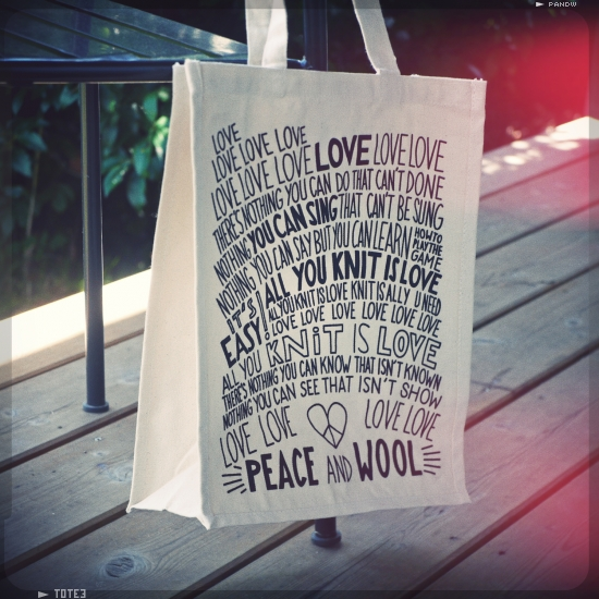 Tote Bag all you knit is love