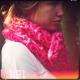 tricoter un châle en grosse laine naturelle