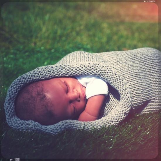 photo patron tricot cocon bebe