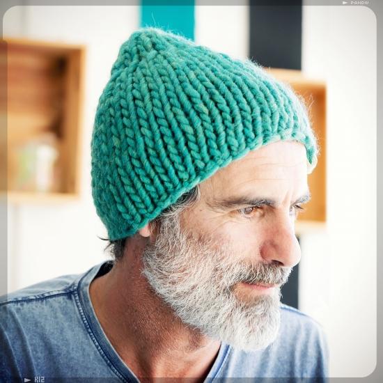 Kit tricot bonnet en grosse laine - Modele de bonnet a tricoter facile ...