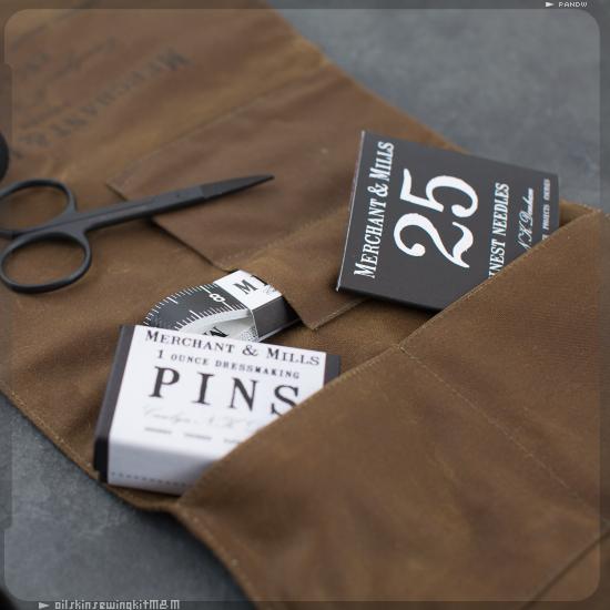 Trousse à couture en coton huilé