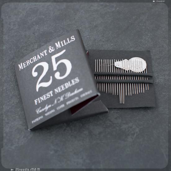 25 aiguilles à coudre fines Merchant & Mills