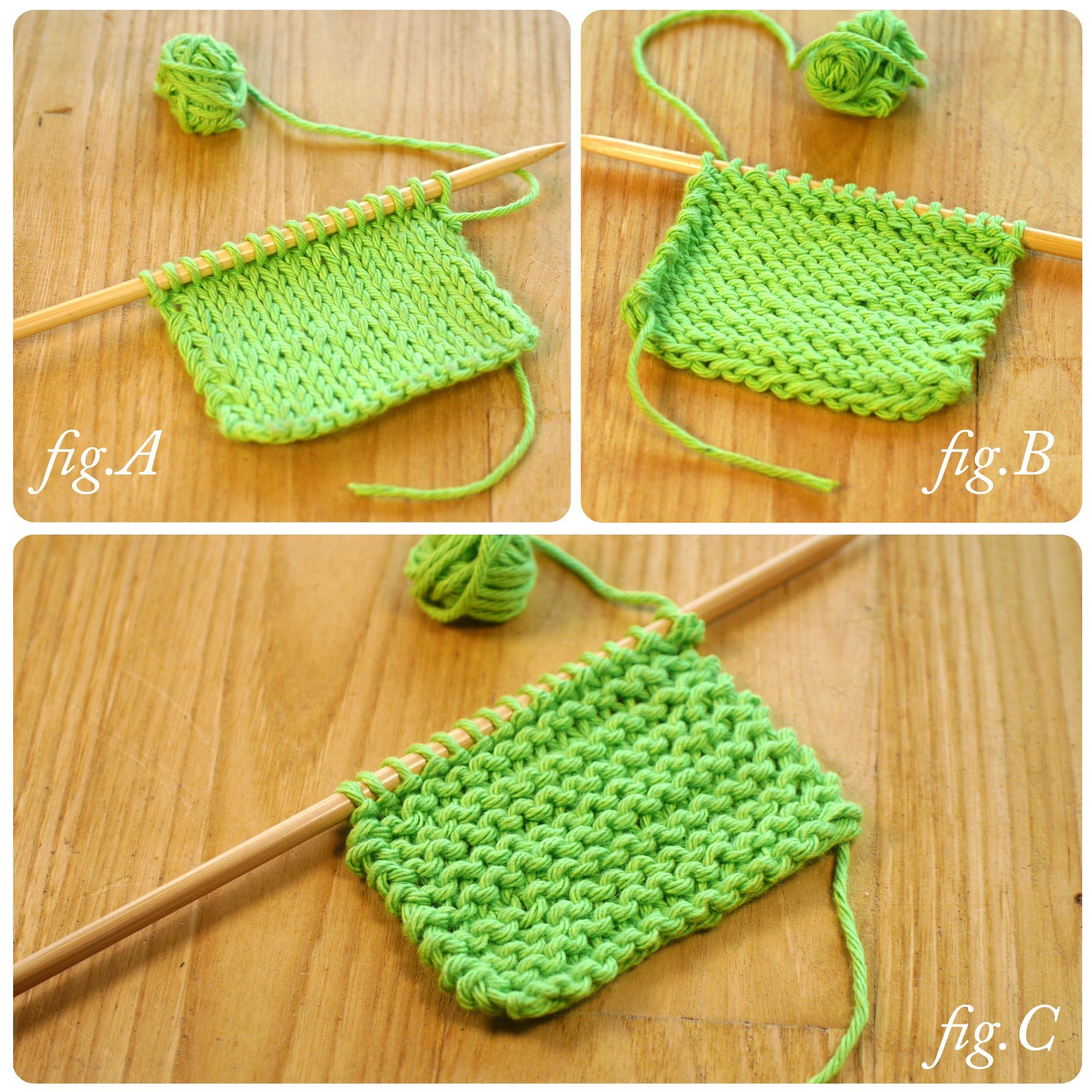 tricoter maille a l'envers